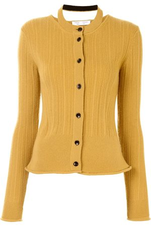 PROENZA SCHOULER WHITE LABEL Ribbed knit cropped cardigan