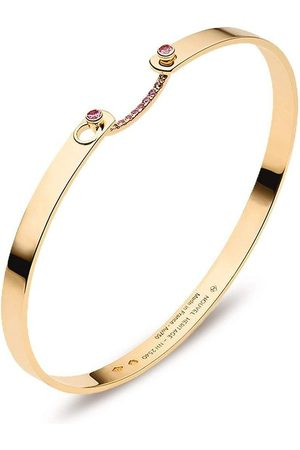 NOUVEL HERITAGE 18kt yellow Baby Pink sapphire bangle
