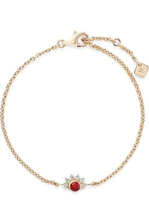 NOUVEL HERITAGE 18kt yellow Mystic diamond and red spinel bracelet