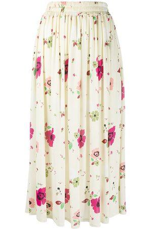 La DoubleJ Flutter sleeve floral T-shirt