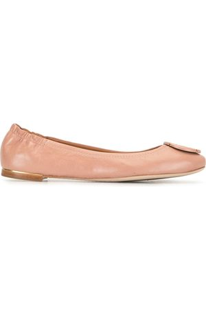Tory Burch Logo buckle ballerinas