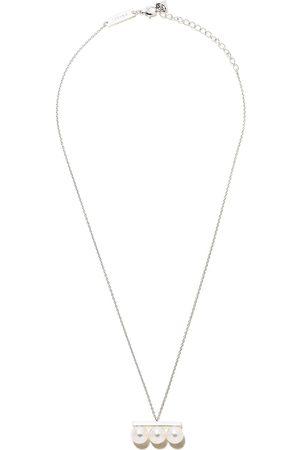 Tasaki 18kt white gold Balance Neo Akoya pearl pendant necklace