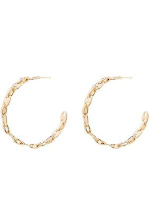 Paco rabanne Tone link hoop earrings