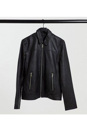 Bolongaro TALL slim fit leather jacket
