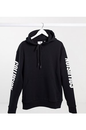 COLLUSION Unisex hoodie with print in