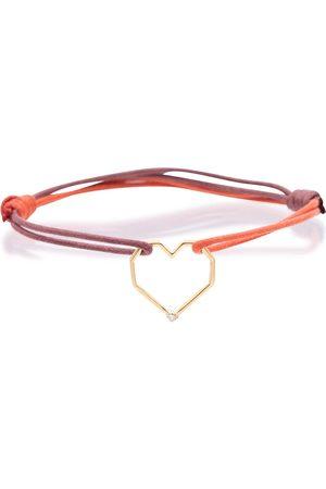 Aliita Corazón Brillante 9kt gold-trimmed bracelet with diamond