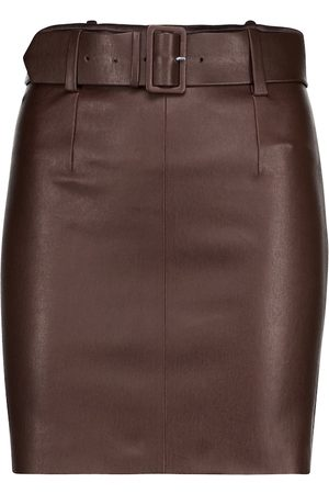 Stouls Women Leather Skirts - Megan belted leather miniskirt