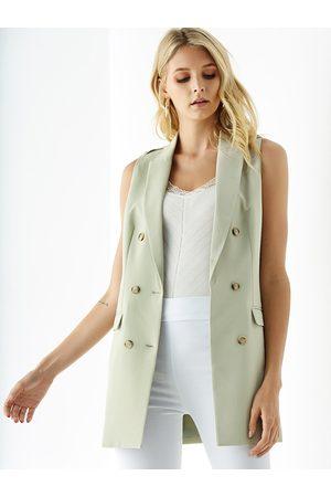 YOINS Pocket Design Sleeveless Waistcoat