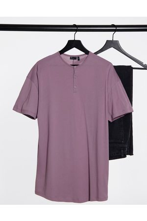 ASOS Relaxed fit longline grandad in washed lilac