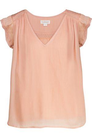 Velvet Isabelle lace-trimmed blouse
