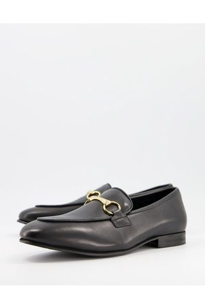 Selected Premium leather snaffle loafer in