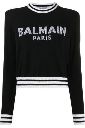 Balmain Intarsia-knit logo jumper