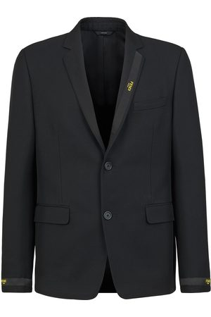 Fendi Men Blazers - Logo tape blazer