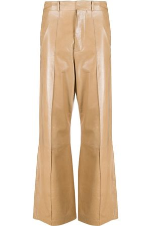 Marni Leather high-waisted trousers