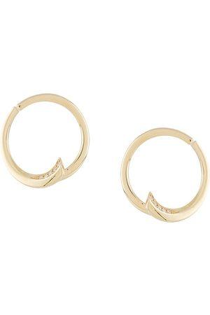 LE STER 18kt yellow diamond Pin Wheel hoop earrings