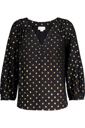 Velvet Maisee polka-dot blouse