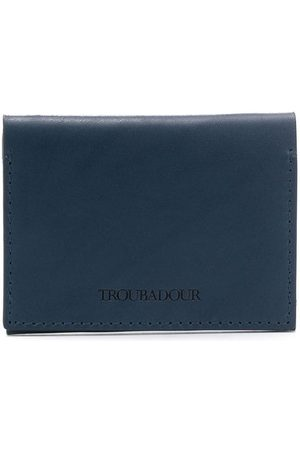 TROUBADOUR Logo embossed card wallet