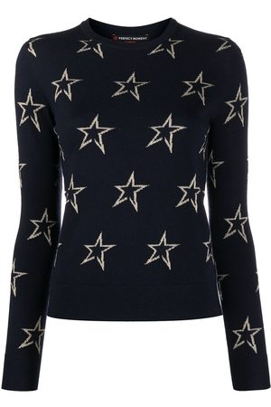 Perfect Moment Women Jumpers - Star patterned intarsia knit jumper