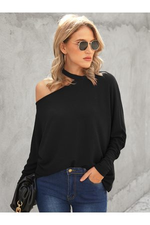 YOINS Cut Out One Shoulder Long Sleeves Tee