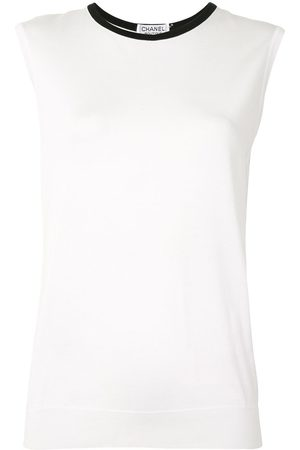 CHANEL 1996 knitted straight-fit sleeveless top