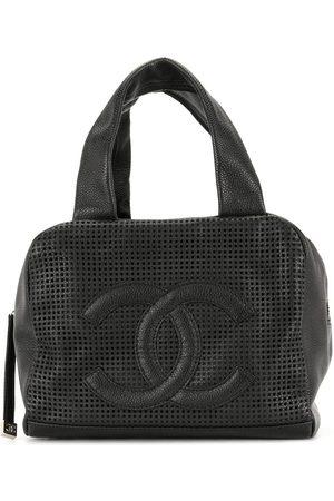 CHANEL 2005 mesh panel CC tote bag