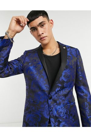 Twisted Tailor Suit jacket with jaquard floral print in