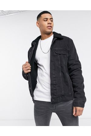 ASOS Denim jacket with borg lining in