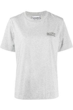 Ganni Logo-print crew-neck T-shirt