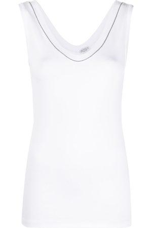 Brunello Cucinelli Crystal-detail vest top