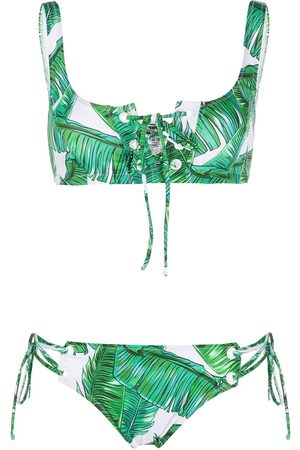 Noire Swimwear Jungle printed crop top bikini