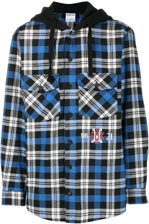 MARCELO BURLON Monogram check shirt-style hoodie