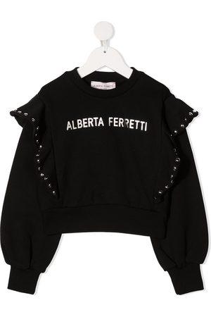 Alberta Ferretti Logo-print rockstud-detail sweatshirt