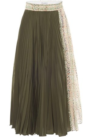 J.W.Anderson Pleated contrasting panel midi skirt