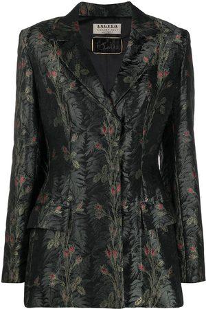 A.N.G.E.L.O. Vintage Cult Women Blazers - 1990s floral jacquard concealed fastening blazer