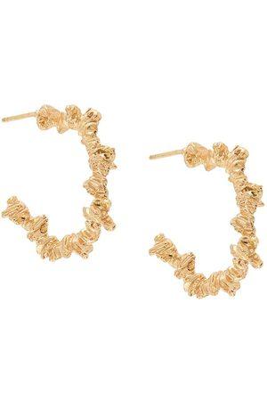NIZA HUANG Under Earth irregular hoop earrings