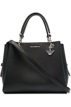 Emporio Armani Pebbled effect chain strap tote bag