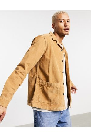 ASOS Cord overshirt in tobacco