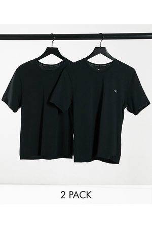 Calvin Klein CK One 2 pack chest logo crew t-shirts in