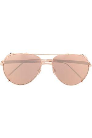 Linda Farrow Men Sunglasses - Bronze aviator sunglasses