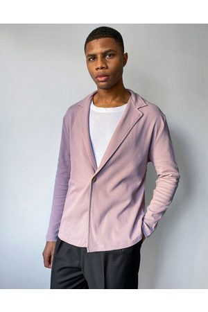 ASOS Relaxed fit long sleeve waffle wrap jersey shirt in washed