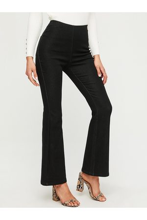 YOINS Black Stretch Waistband Flared Jeans