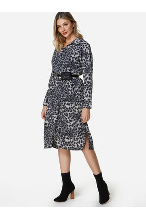 YOINS Leopard Printed Work Dress No Belt