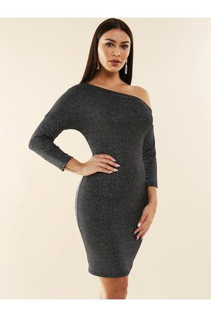 YOINS One Shoulder Long Sleeves Bodycon Dress