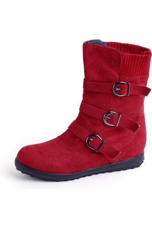 YOINS Buckle Design Zip Detail Short Boots