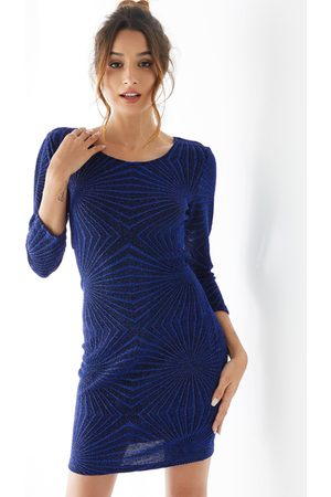 YOINS Geo Backless Criss-cross Design Round Neck Dress