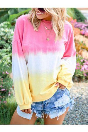 YOINS Gradual Round Neck Sweatshirt