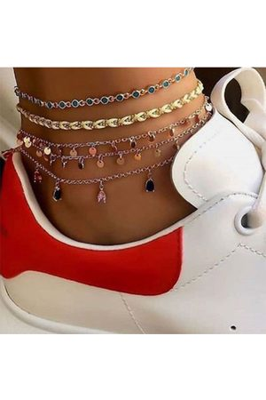 YOINS Gold Alloy Round Multi-layer Metal Anklet