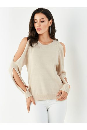 YOINS Cut Out Cold Shoulder Long Sleeves Sweater