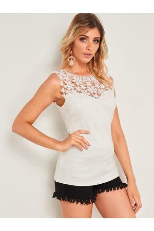YOINS Crochet Lace Embellished Tank Top