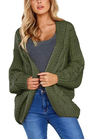 YOINS Cable Knit Long Sleeves Open Front Cardigan